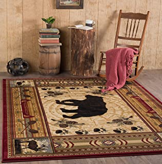 universal rugs lodge novelty 5 ft 3 in x 7 ft 3 in - Rustic Area Rugs