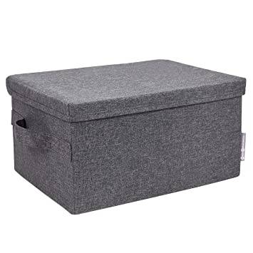 Bon Amazon.com: Bigso Soft Storage Box With Lid, Large, Black: Home U0026 Kitchen