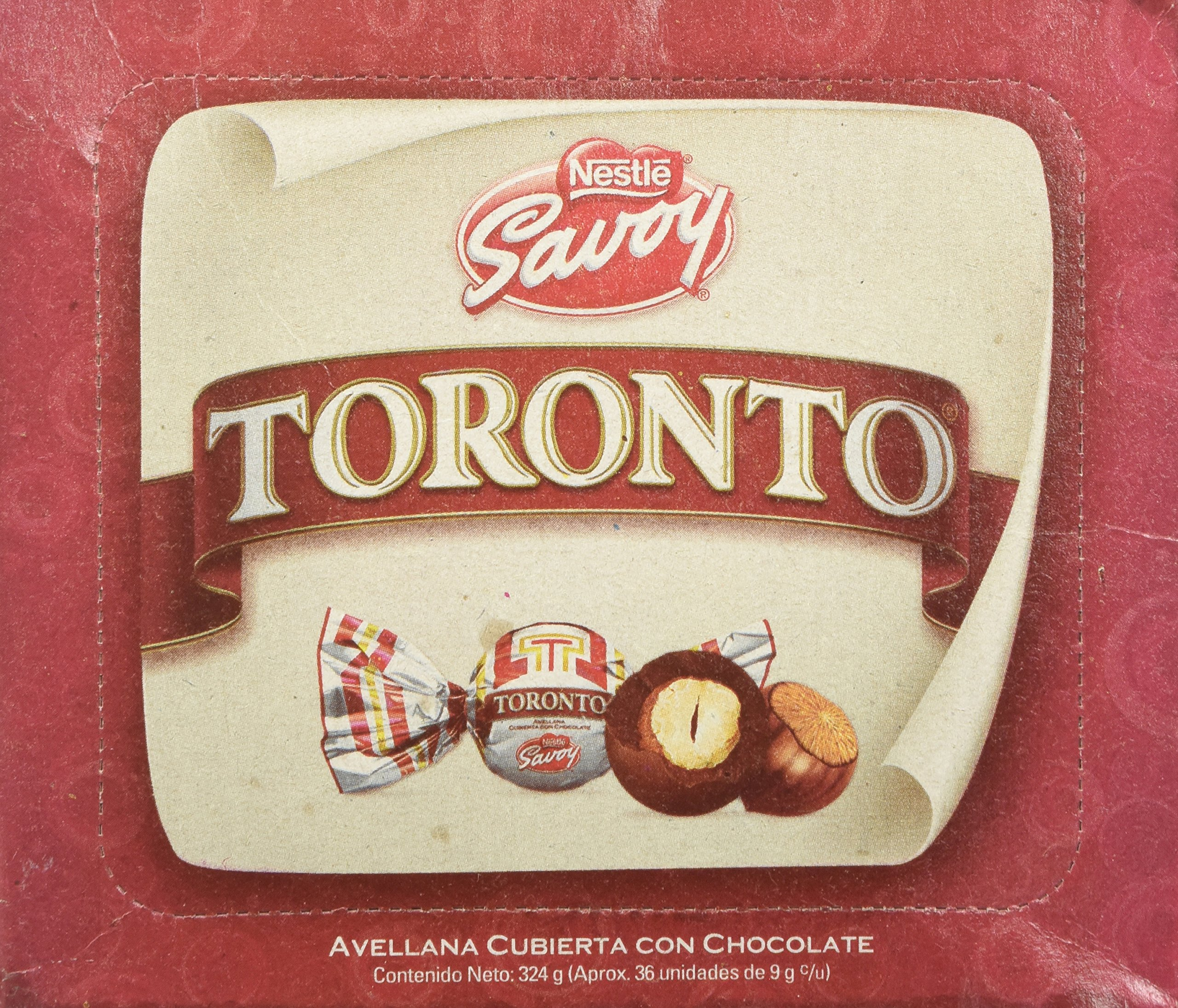 Nestle Savoy Toronto Chocolate Covered Hazelnut Savoy 36 Unit NET Wt 324g