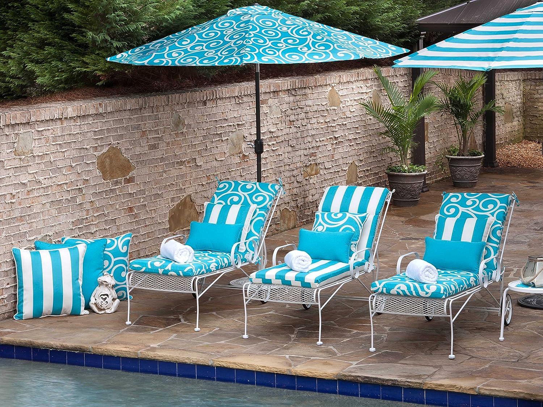 Set of 2 Blue 550206 Pillow Perfect Outdoor Veranda Rectangular Throw Pillow