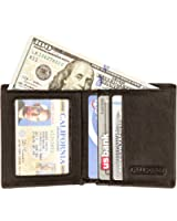 Slim RFID Blocking Front Pocket Wallet FV05 with Interior ID Window - Card Holder with 6 Slots Plus Compartment for Bills - Protects Credit Cards Bank Cards IDs from High Tech Identity Thieves