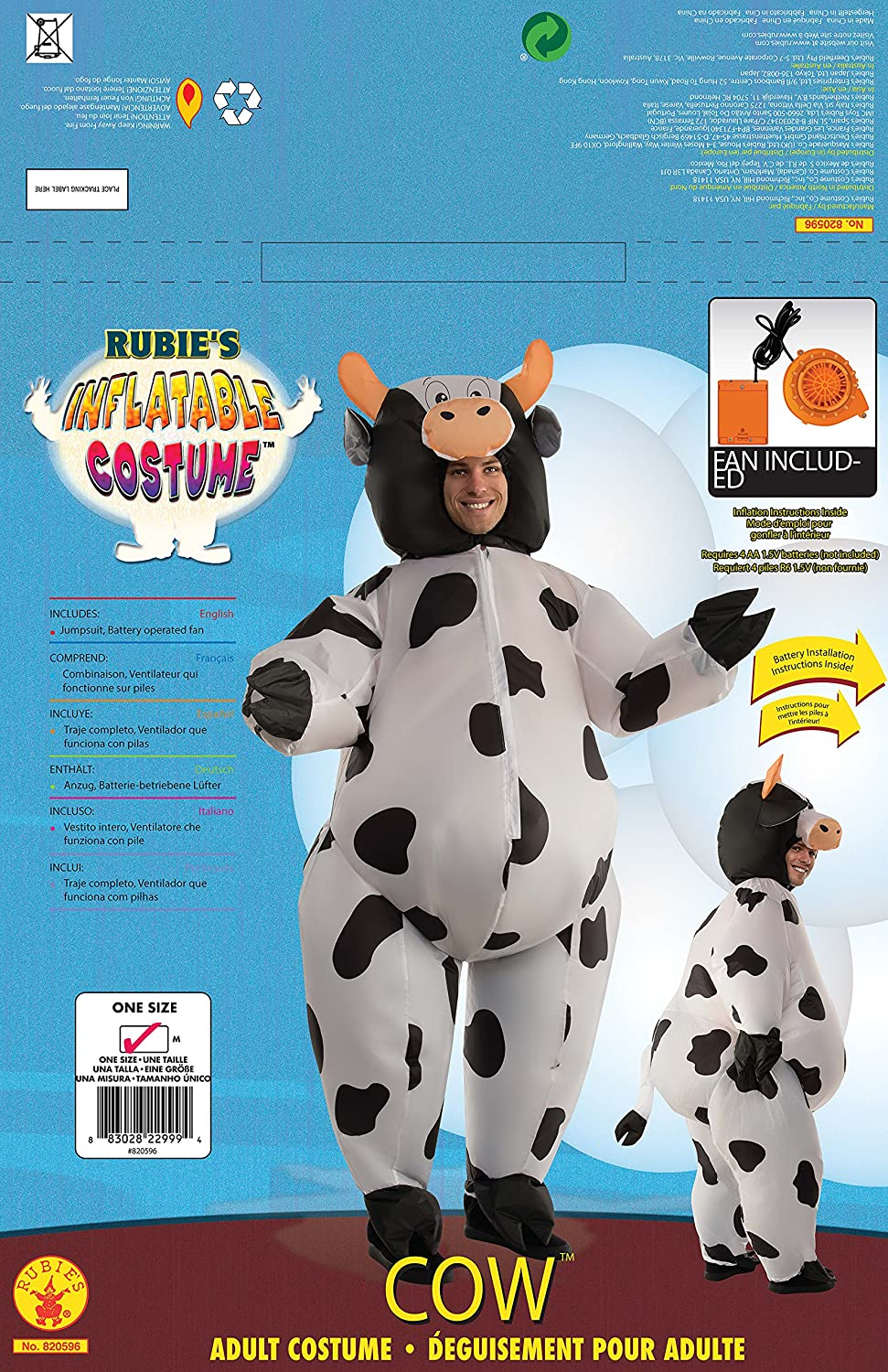 & Amazon.com: Rubieu0027s Menu0027s Inflatable Cow Costume Standard: Clothing