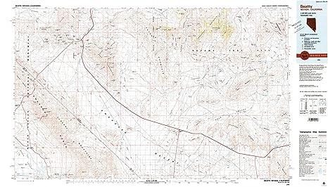 Amazoncom Beatty NV Topo Map Scale X Minute - Historical topo maps