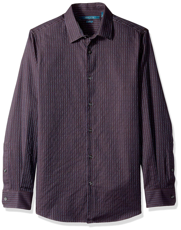 Perry Ellis Mens Slim Fit Check Shirt