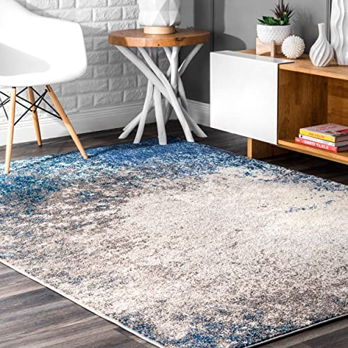 nuLOOM Donya Abstract Area Rug, 4 x 6 , Blue