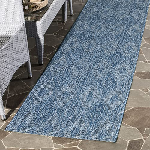 Safavieh Courtyard Collection CY8522-36822 Navy Indoor Outdoor Area Rug 2 x 3 7