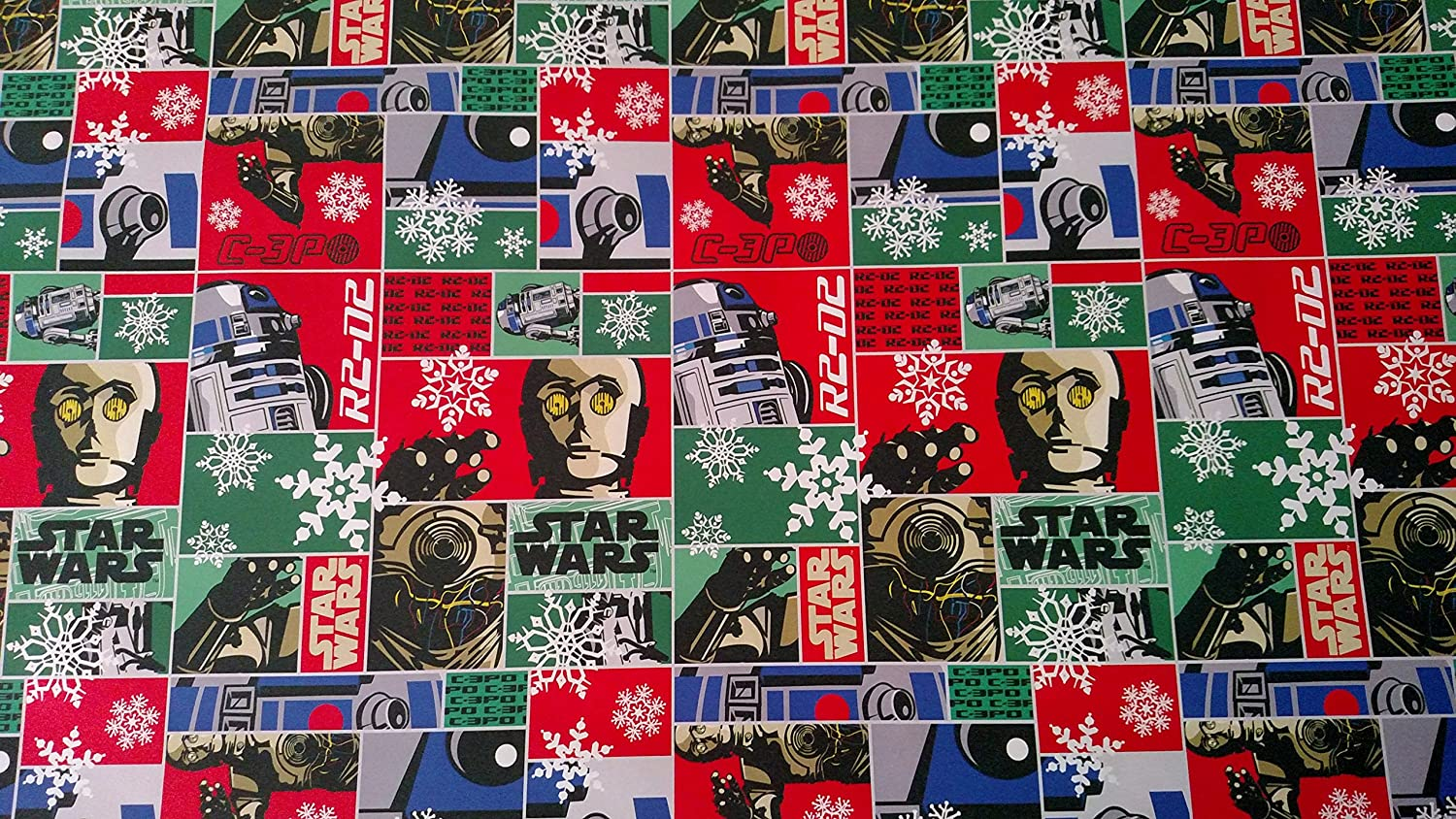Amazon.com: Star Wars Wrapping Paper Droid Christmas Gift Wrap (1 ...