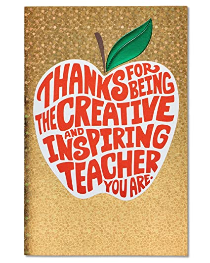 Amazon american greetings creative and inspiring thank you american greetings creative and inspiring thank you card for teacher with foil m4hsunfo