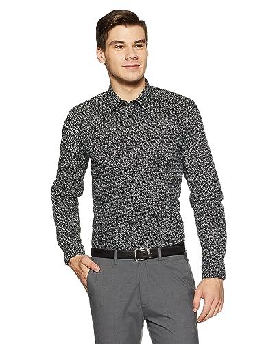Arrow New York Men's Formal Shirt Formal Shirts at amazon