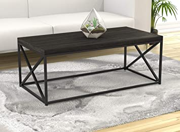 Safdie & Co. 81036.Z.74 Living Room Coffee Coktail Tea Center Table-48  L/Grey Wood/Modern Low Table