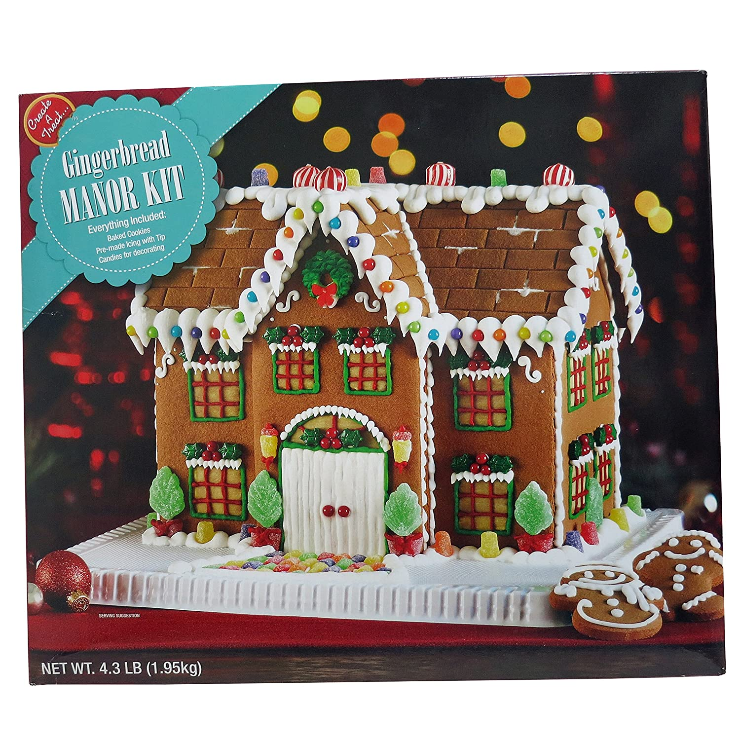 Premade Gingerbread Houses Amazoncom Deluxe Gingerbread Manor House Kit Grocery