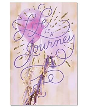 American greetings life is a journey birthday card for her with american greetings life is a journey birthday card for her with glitter m4hsunfo Choice Image
