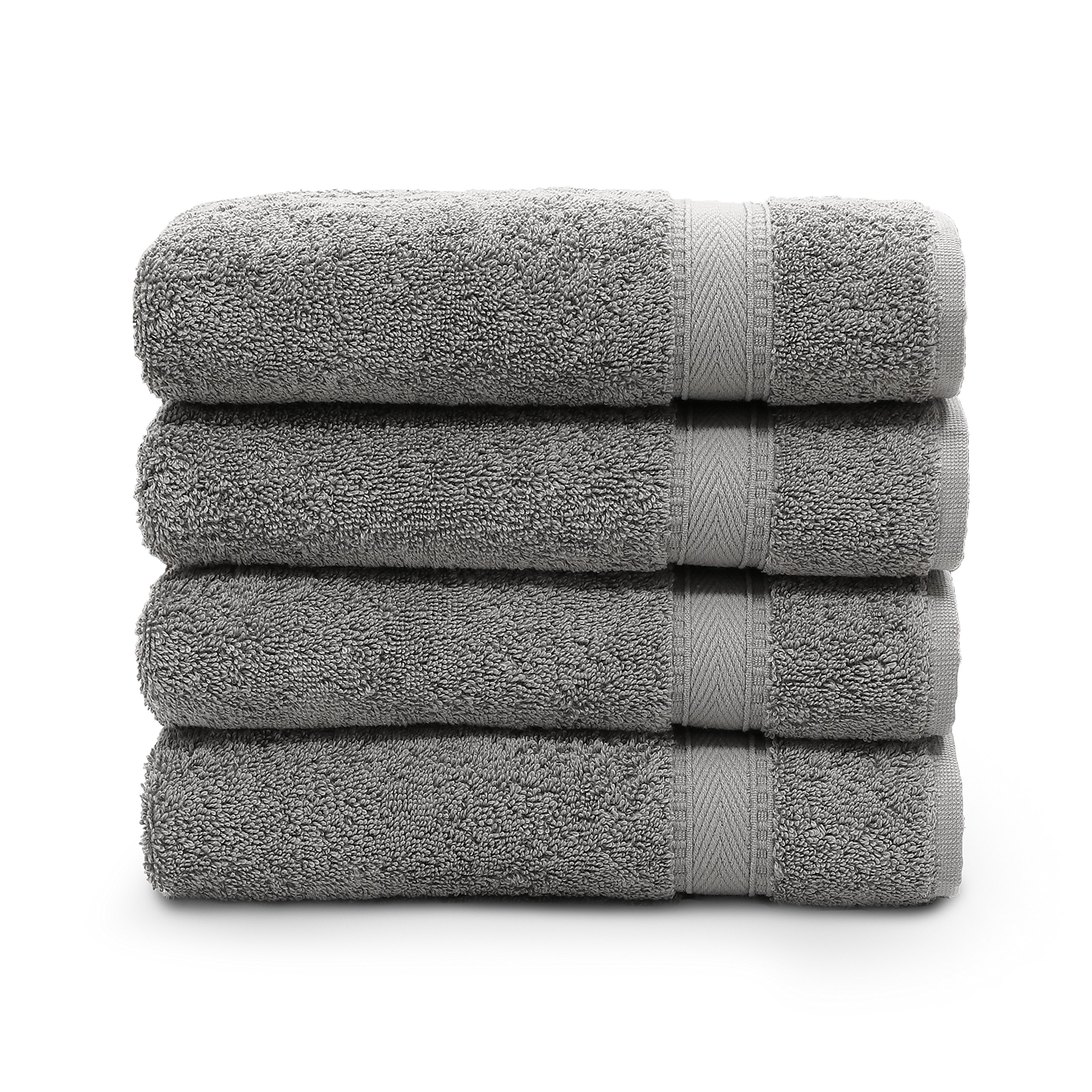 Linum Home Textiles SN96-4HT Bath Towel, Dark Grey