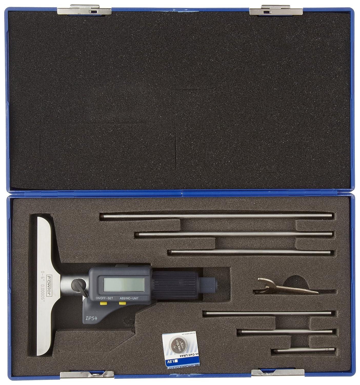 "52-225-226 0.001 Graduation 4/"" Base Fowler Full Warranty Digit Counter Depth Micrometer 0-6 Measuring Range"