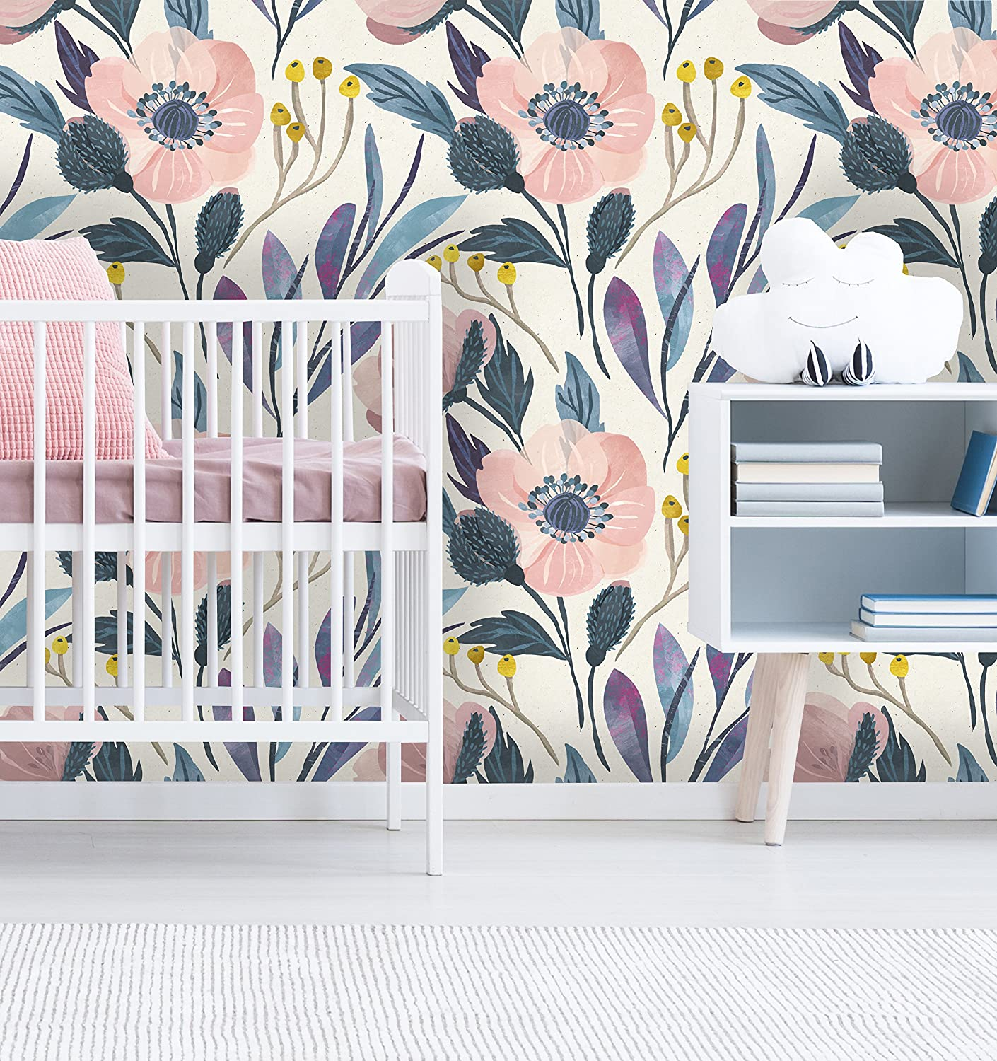 Removable Wallpaper Mural Peel Stick Nursery Wallpaper Self