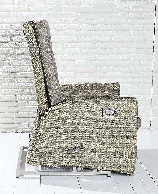 2x Luxus Polyrattan XL-Gartensessel mit verstellbarer Rückenlehne ...