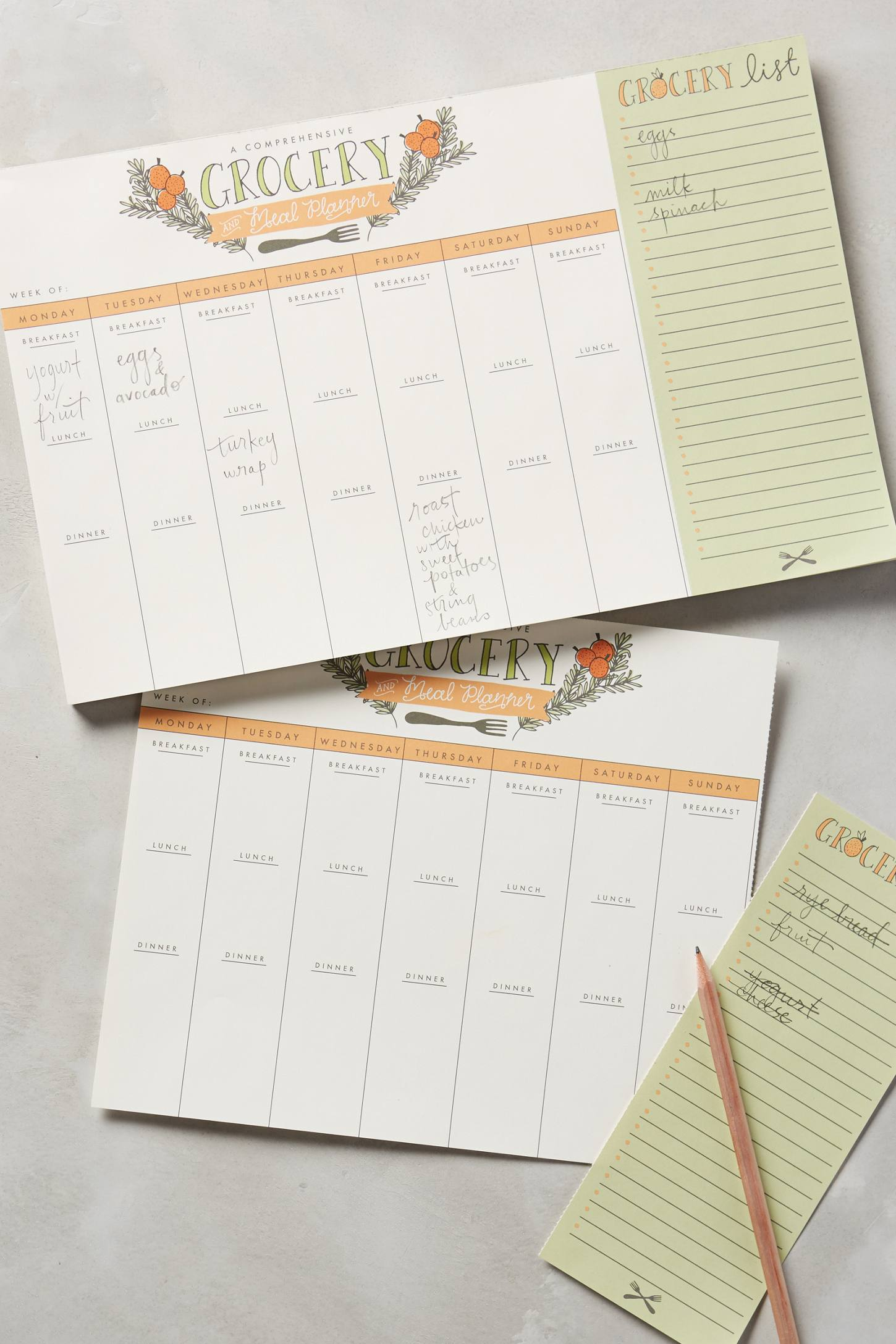 Grocery And Meal Planner   Anthropologie