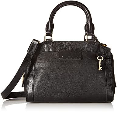 198b27c062 Fossil Logan Small Satchel-Black  Handbags  Amazon.com