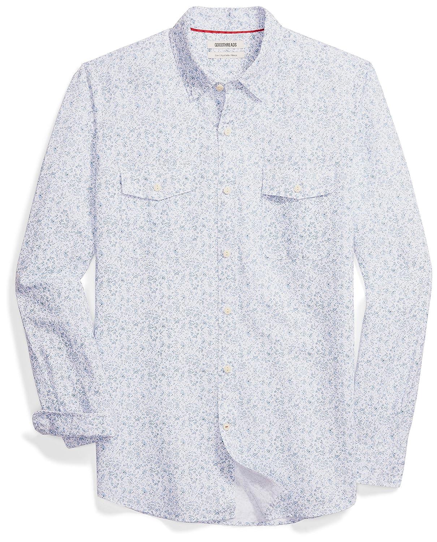 99d71d57966 Amazon.com: Amazon Brand - Goodthreads Men's Slim-Fit Long-Sleeve Linen and Cotton  Blend Shirt: Clothing