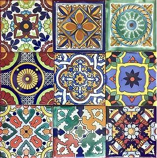 Amazon.com: Decorative Ceramic Tile - Ifriquia Design (Set of 4 ...