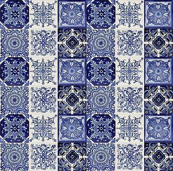 Piastrelle miste Tono | 30 piezzi quadrate mattonelle 10x10 ceramica |  Perfetto per bagno, rivestimento cucina, mosaico, decorate, talavera | ...