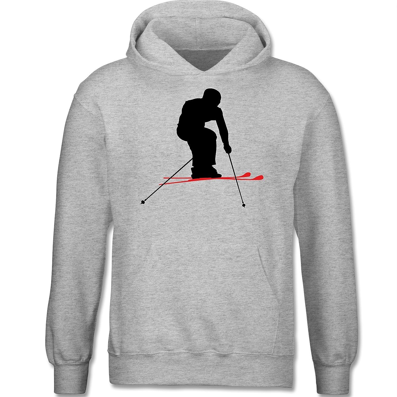 Sport Kind - Skifahren Urlaub - Kapuzenpullover / Kinder-Hoodie für Mädchen und Jungen