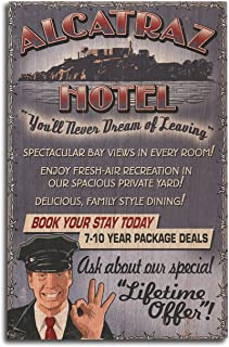 product image for Lantern Press San Francisco, California - Alcatraz Island Hotel (10x15 Wood Wall Sign, Wall Decor Ready to Hang)