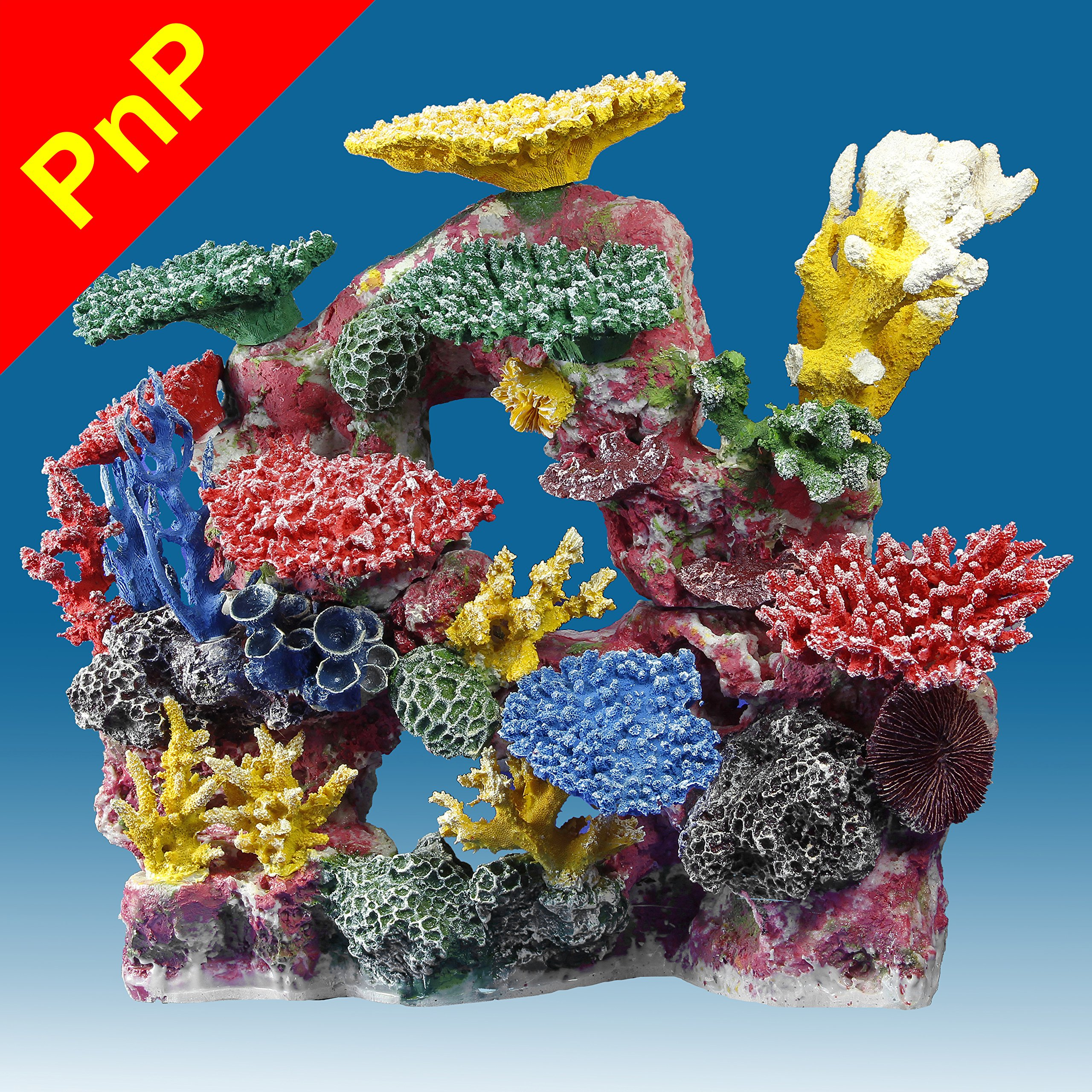 Instant Reef DM034PNP Large Artificial Coral Inserts Decor, Fake Coral Reef Decorations for Colorful Freshwater Fish Aquariums, Marine and Saltwater Fish Tanks by Instant Reef