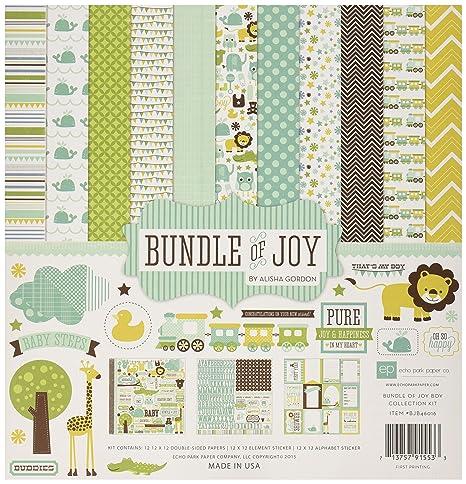 Echo Park Paper Bundle Of Joy Boy Collection Scrapbooking Kit