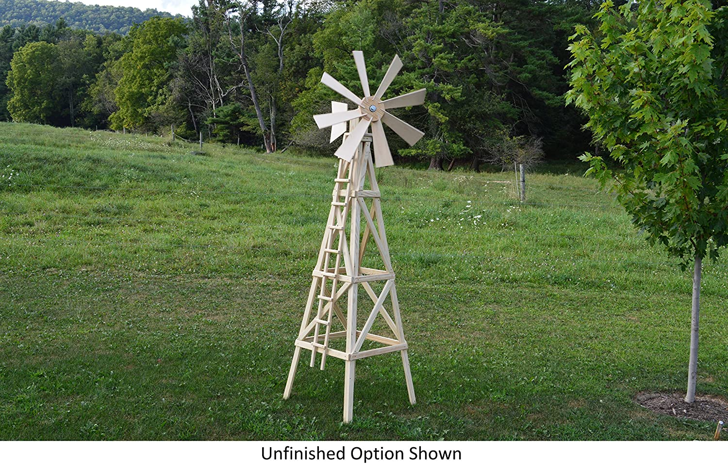 amazon com amish made working farm style windmill yard