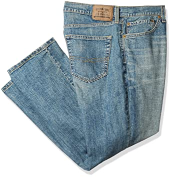 6077db59 Signature by Levi Strauss & Co Men's Big and Tall Athletic Fit Jeans, napa  46W