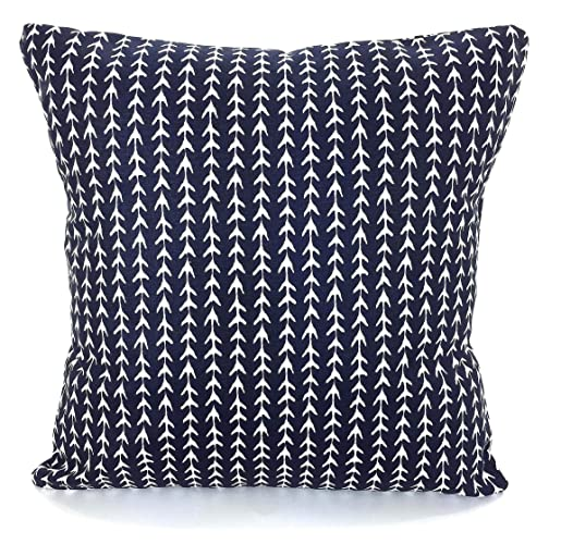 Amazon Com Navy Blue Pillow Covers Navy White Throw Cushions