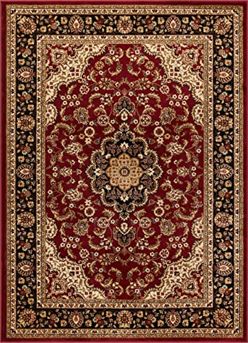 Well Woven Barclay Medallion Kashan Red Traditional Area Rug 7'10″ X 9'10″