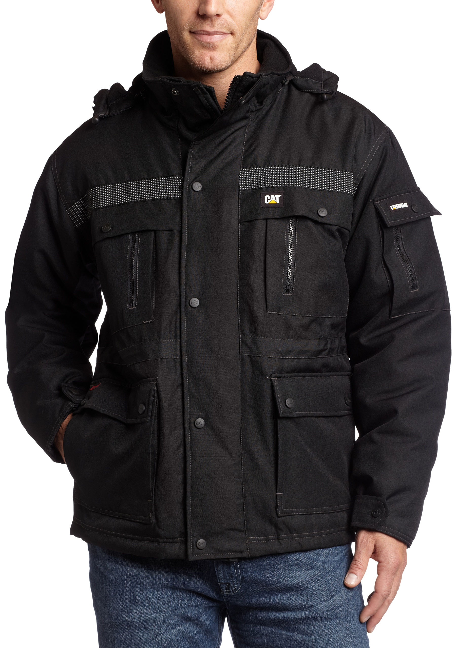 Caterpillar Men's Heavy Insulated Parka Coat, Black, Large by Caterpillar