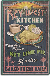 product image for Lantern Press Key West, Florida - Key Lime Pie Vintage Sign (10x15 Wood Wall Sign, Wall Decor Ready to Hang)
