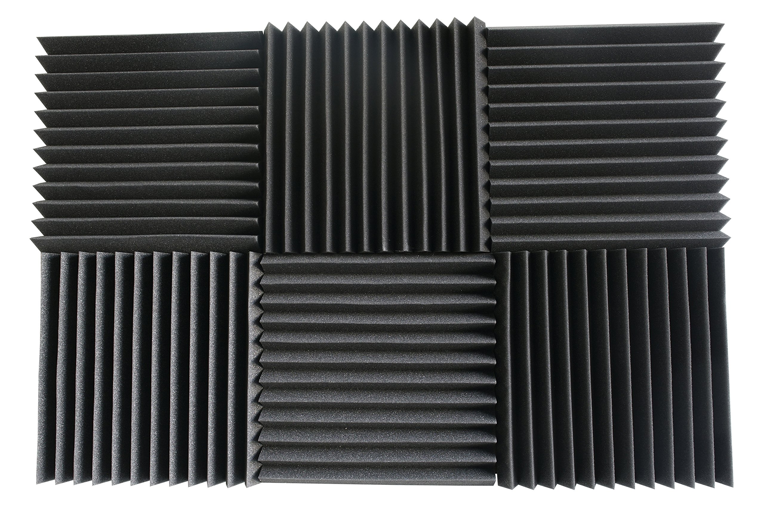 6 Pack- Acoustic Panels Studio Foam Wedges 2'' X 12'' X 12'' by Foamily (Image #3)