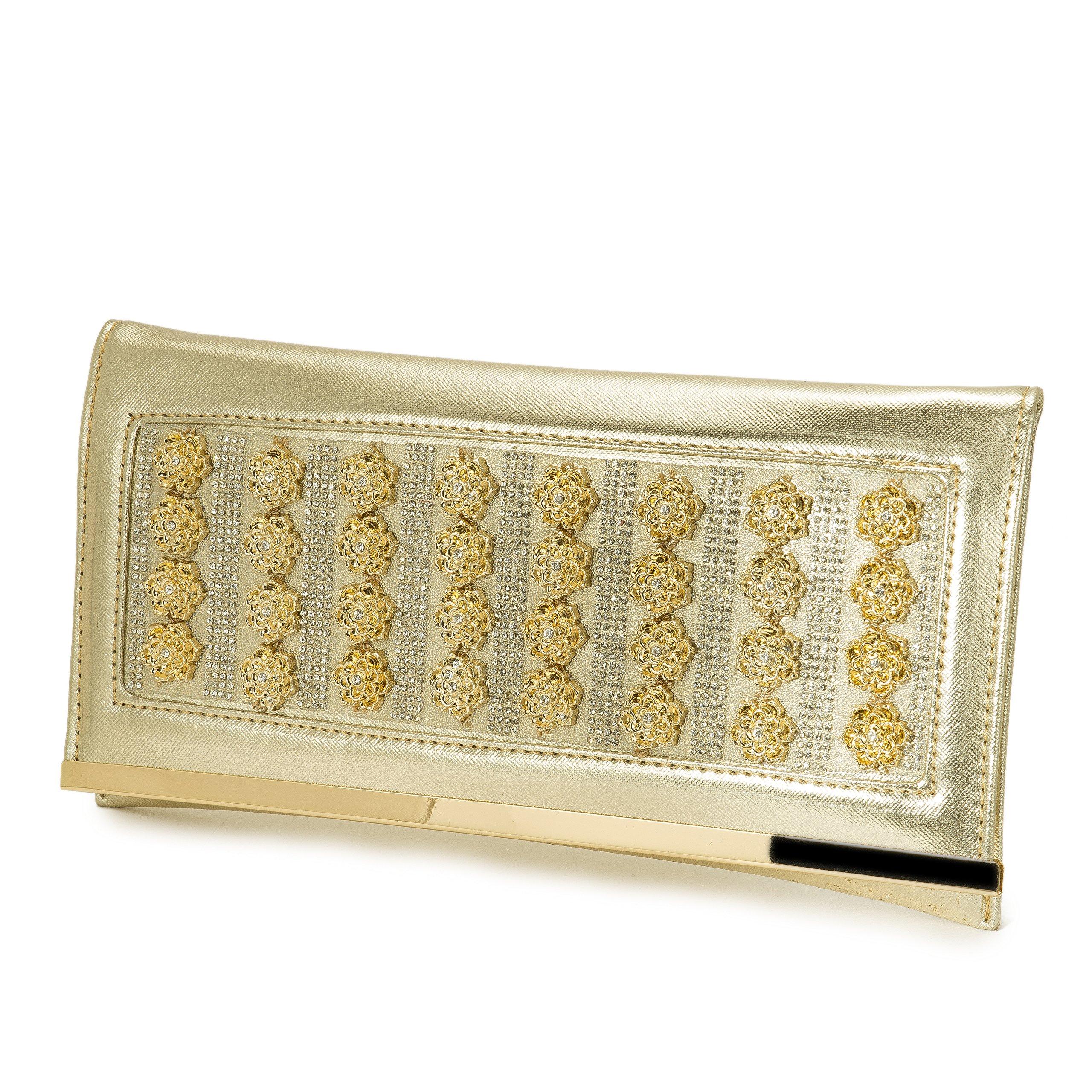 evening bags Luxury handbags Women gold clutch tote flower Appliques crystal diamonds pvc bags wedding burse
