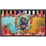 Fußmatte Fußabtreter Fußabstreifer Schmutzmatte Motiv Design Eule Cat Katze Hund Dog OWL (black-Owl)