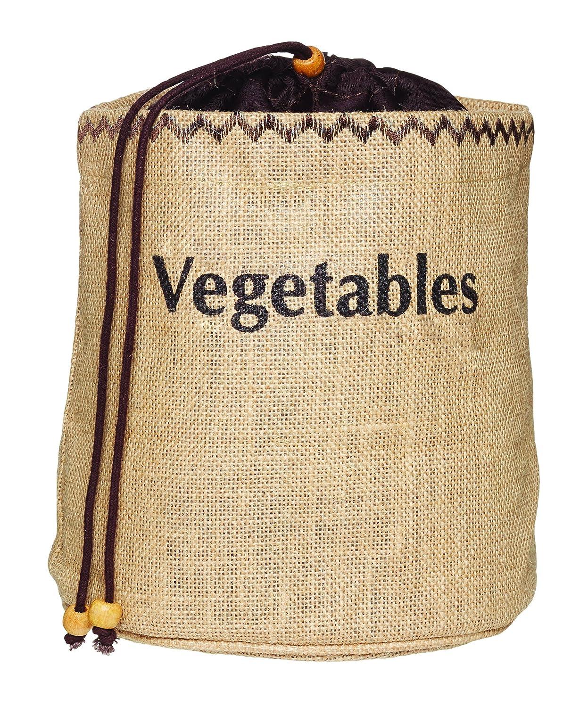 Kitchencraft Bolsa con Forro para Conservar Cebollas, Tela, Beige, 21x28.1x10 cm Agentnova JVOS