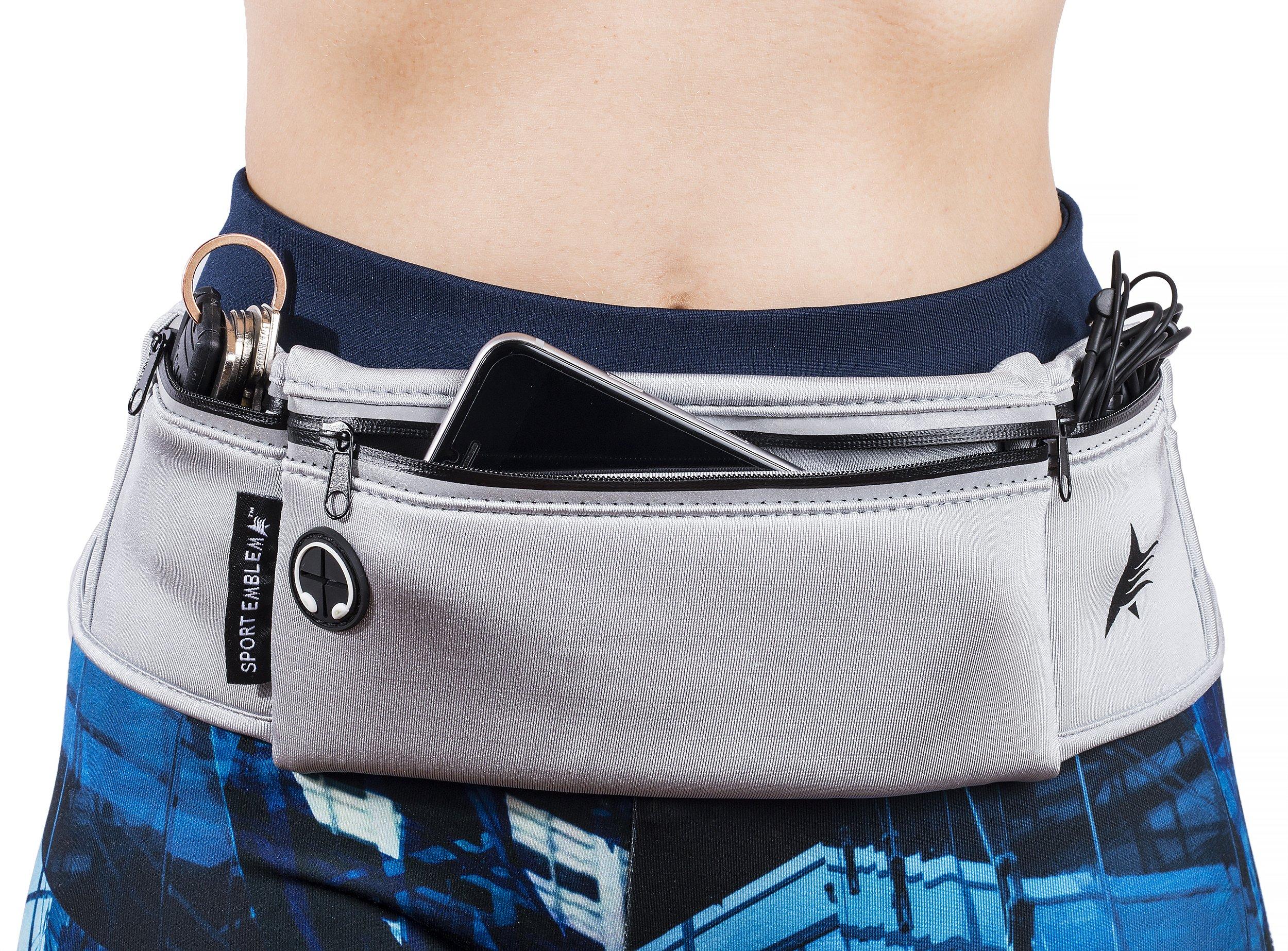 Running Belt for Phone | Runners Belt and Fanny Packs for Women or Men | Running Waist Belt by Sport Emblema