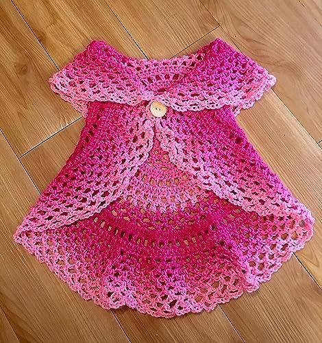 Amazoncom Kays Crochet Baby Girl Boho Circular Vest Sweater In