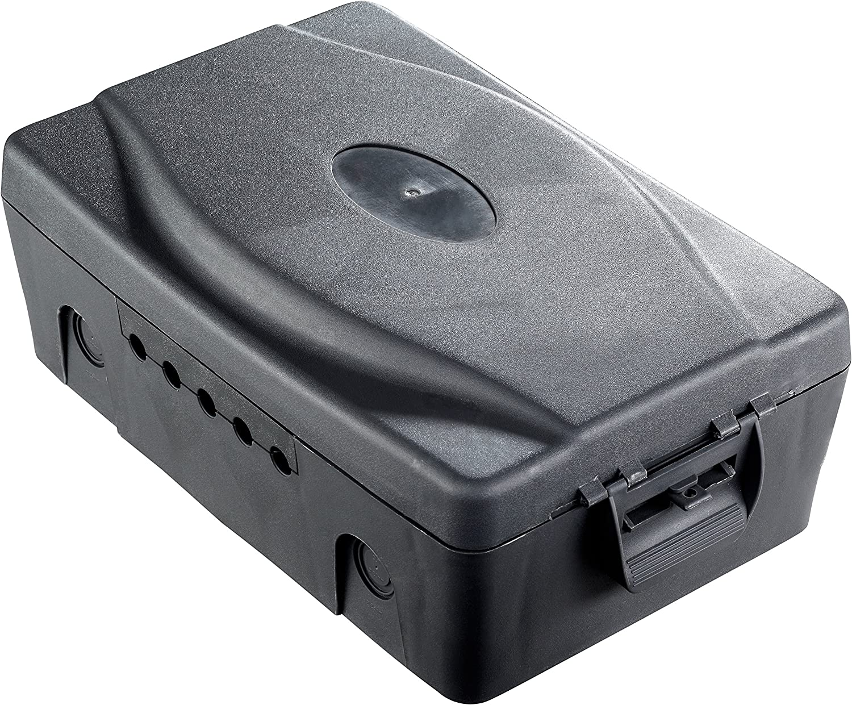 Masterplug Waterproof Outdoor Weatherproof Box with 4 Socket 10m Extension Lead