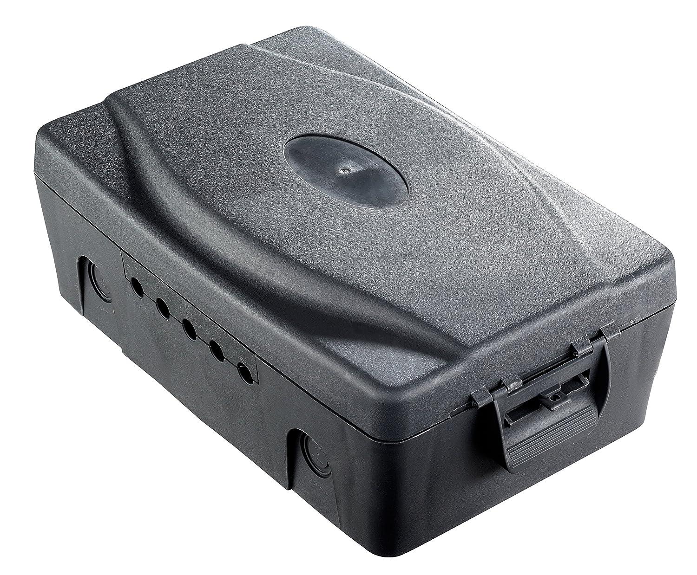 Masterplug Wbxbfg10b Outdoor Ip54 Weatherproof Box With 13amp 4 Wiring Multiple Outlets In One Socket 10m Extension Lead Dark Grey Diy Tools