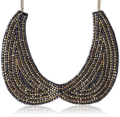 Buy Poetry Accessories Gold Metal Beaded Peter Pan Collar Necklace