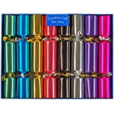 Bright Metallic Family Christmas Crackers - hand filled in UK with quality gifts for all the family