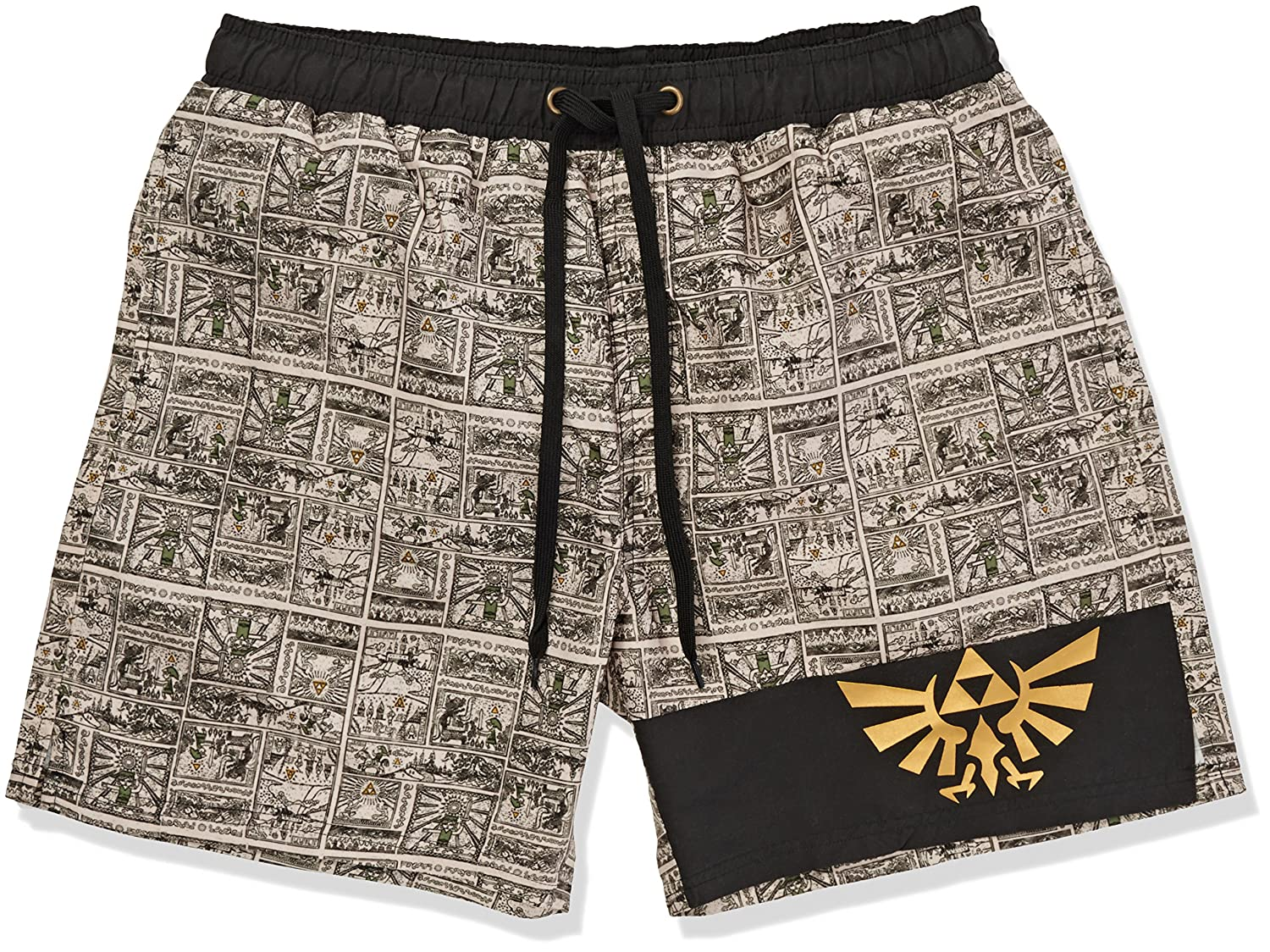 The Legend of Zelda Story Of The Hero Swim trunks black-beige