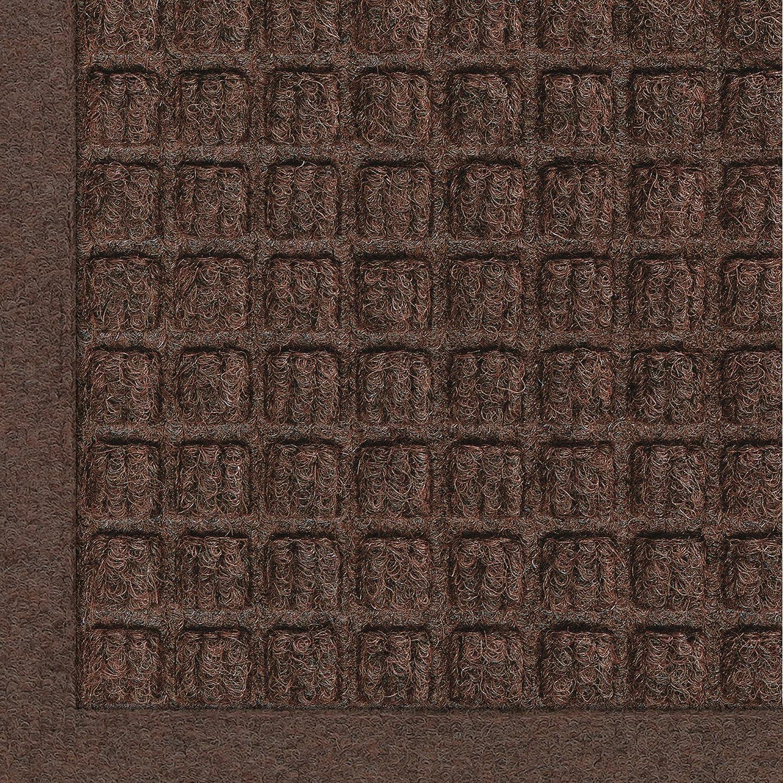 Andersen 280 Waterhog Fashion Polypropylene Fiber Entrance Indoor Floor Mat, SBR Rubber Backing, 4-Feet Length X 3-Feet Width, 3/8-Inch Thick, Dark Brown 4' Length x 3' Width 3/8 Thick 280-152-4F3F