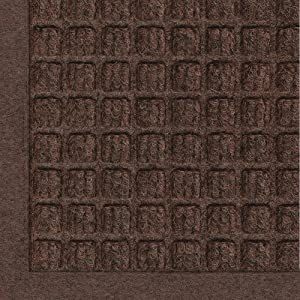 WaterHog Fashion Commercial-Grade Entrance Mat, Indoor/Outdoor Charcoal Floor Mat 4' Length x 3' Width, Dark Brown by M+A Matting