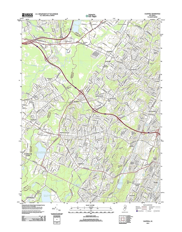 Caldwell New Jersey Map.Amazon Com Topographic Map Poster Caldwell Nj Tnm Geopdf 7 5x7 5