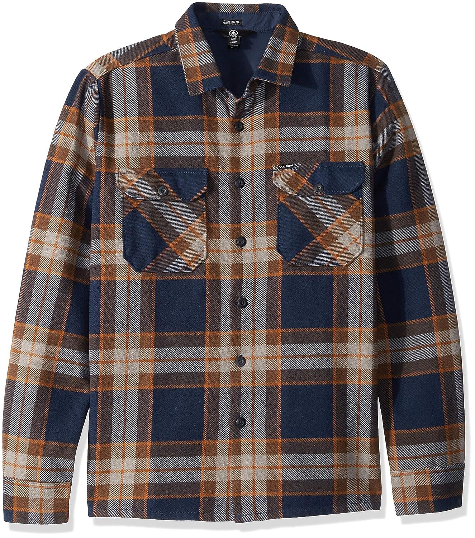 [ボルコム] [メンズ] 長袖 チェックシャツ (フランネル) [ A0541803 / Randower LS Flannel SHIRTS ] ネルシャツ おしゃれ MLO_ネイビー US M (日本サイズM相当)